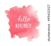 hello november greeting with... | Shutterstock . vector #495422527