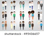 different pairs of two people... | Shutterstock .eps vector #495436657