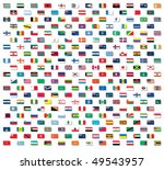 vector world flags with non... | Shutterstock .eps vector #49543957