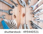 construction instruments and... | Shutterstock . vector #495440521
