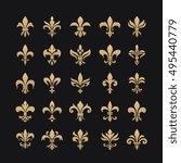 royal french heraldry design...   Shutterstock .eps vector #495440779