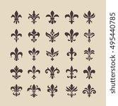 royal french heraldry design... | Shutterstock .eps vector #495440785