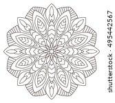 floral geometric pattern ... | Shutterstock . vector #495442567