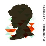 vintage boy silhouette | Shutterstock .eps vector #495445969