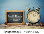 image of autumn time change.... | Shutterstock . vector #495446437