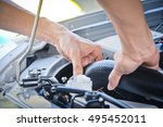 check the condition of the car... | Shutterstock . vector #495452011