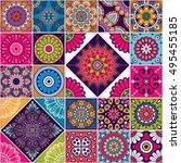 seamless pattern. vintage... | Shutterstock .eps vector #495455185