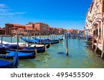 venice   grand canal and... | Shutterstock . vector #495455509