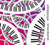 Curved Piano Keyboard Vector...
