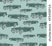 vintage car cabriolet seamless... | Shutterstock .eps vector #495458914