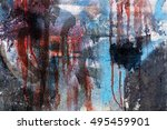 spayed texture. color paint. | Shutterstock . vector #495459901