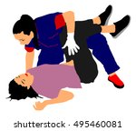 rescue drowning first aid... | Shutterstock .eps vector #495460081