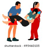 rescue drowning first aid... | Shutterstock .eps vector #495460105