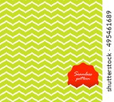 perfect seamless zig zag... | Shutterstock .eps vector #495461689