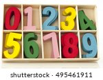 the number card made of the... | Shutterstock . vector #495461911