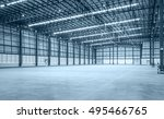 interior of empty warehouse | Shutterstock . vector #495466765