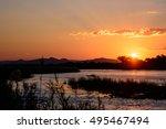 sunset landscape | Shutterstock . vector #495467494