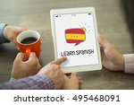 learn spanish concept | Shutterstock . vector #495468091