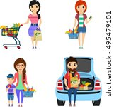 set of vector illustrations.... | Shutterstock .eps vector #495479101