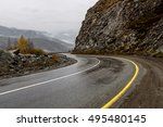 scenic view of the hairpin bend ... | Shutterstock . vector #495480145