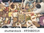 food catering cuisine culinary... | Shutterstock . vector #495480514