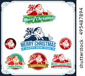 Vector Vintage Christmas Labels ...