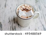 cocoa with marshmallows | Shutterstock . vector #495488569