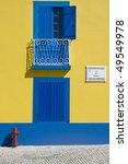detail of an old house facade... | Shutterstock . vector #49549978