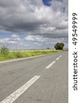 empty countryside road among... | Shutterstock . vector #49549999