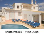beautiful villa with a healthy... | Shutterstock . vector #49550005