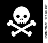 black skull and cross bones  ... | Shutterstock .eps vector #495501109