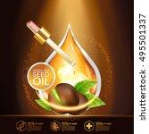 green tea seed oil skin care... | Shutterstock .eps vector #495501337