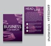 vector brochure flyer design... | Shutterstock .eps vector #495503449