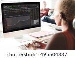 stock exchange trading forex... | Shutterstock . vector #495504337