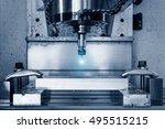 metalworking cnc milling...   Shutterstock . vector #495515215