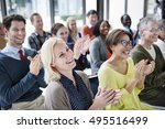 audience applaud clapping... | Shutterstock . vector #495516499