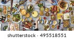 food catering cuisine culinary... | Shutterstock . vector #495518551
