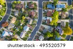 aerial view of residential... | Shutterstock . vector #495520579