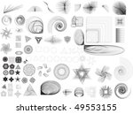collection of lots of different ...   Shutterstock . vector #49553155