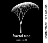 Beautiful Fractal Tree Vector...