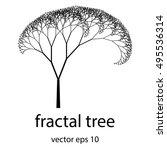 Beautiful Fractal Tree Vector...