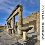 View Of Pompeii Ruins. Italy....