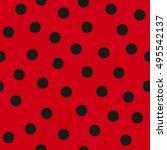 Stock vector ladybug pattern seamless vector 495542137