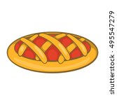 delicious cherry pie icon in...   Shutterstock .eps vector #495547279