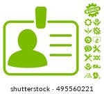 personal badge pictograph with...   Shutterstock .eps vector #495560221