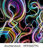 moving colorful lines of...   Shutterstock .eps vector #495560791