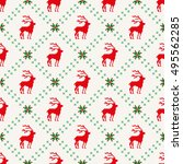 christmas seamless pattern with ... | Shutterstock .eps vector #495562285