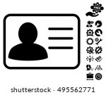 account card icon with bonus... | Shutterstock .eps vector #495562771