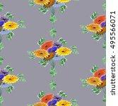 seamless pattern of green... | Shutterstock . vector #495566071