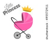 baby carriage isolated vector... | Shutterstock .eps vector #495572911